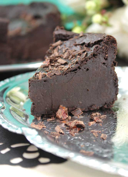 """It was one of those """"I gotta have chocolate!"""" days that inspired this lighter version of Chocolate Decadence that's gluten free, dairy free and egg free."""