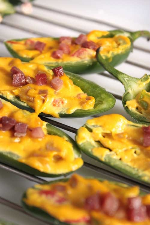 These dairy free jalapeno poppers left me completely satisfied! The pancetta took them over the top!