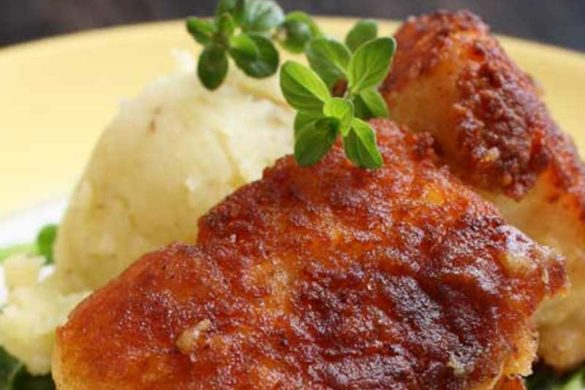 Potato-Crusted Cod & Wilted Arugula