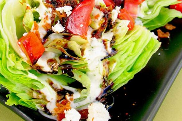 If you love wedge salads but can't do the dairy-based dressings then you'll love this Dairy Free Outback Steakhouse Wedge Salad.