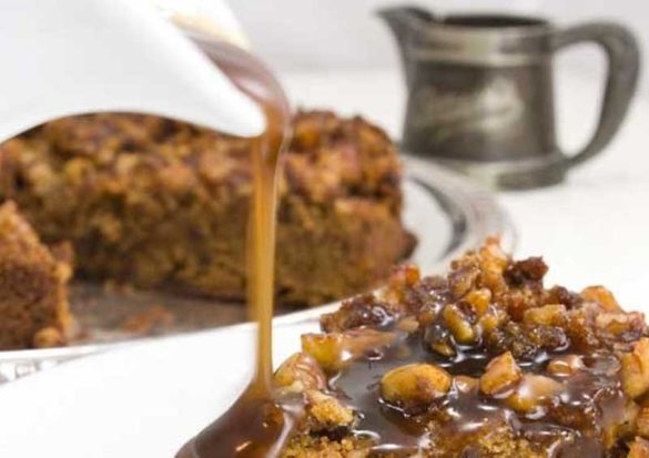 Gluten-Free Vegan Upside-Down Sticky Toffee Pudding