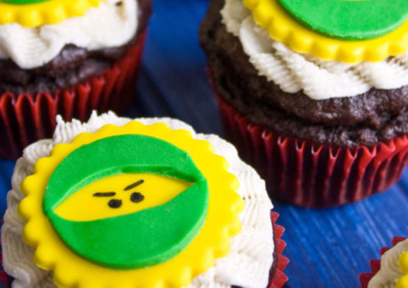 Make your birthday boy's special day very special with easy gluten-free, dairy-free and egg-free Batman and Lego Ninjago cupcakes.