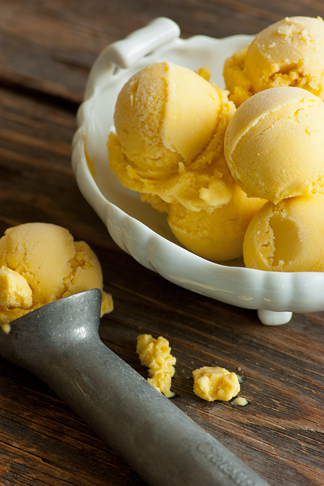 Dairy Free Mango Ice Cream