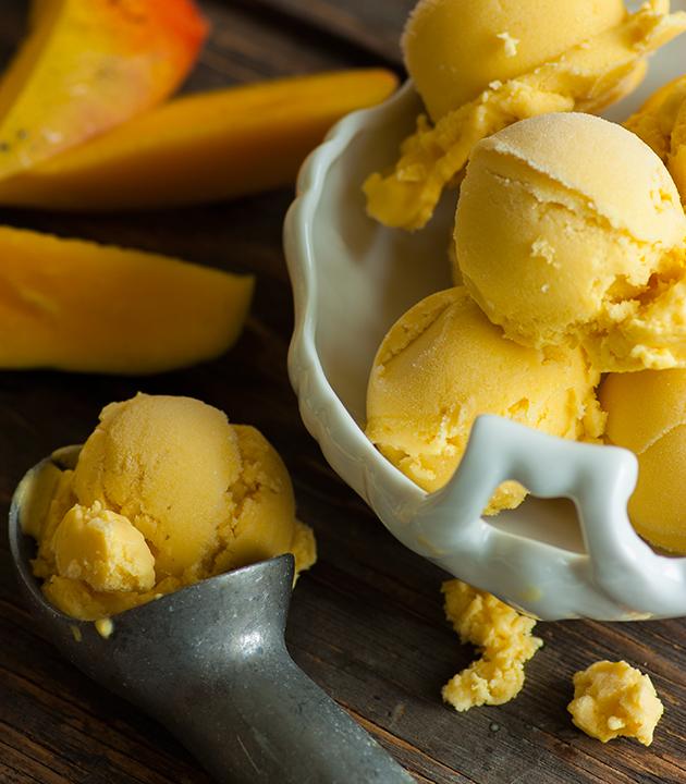 Dairy Free Mango Ice Cream