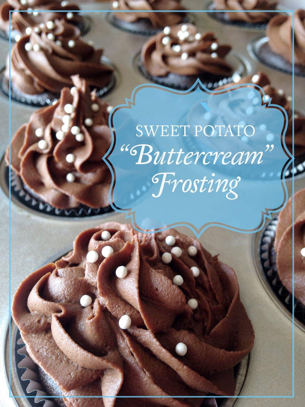 The secret ingredient in this vegan sweet potato buttercream frosting is in it's name. It gives it so much structure that piping it on to a cake or cupcakes is a dream.