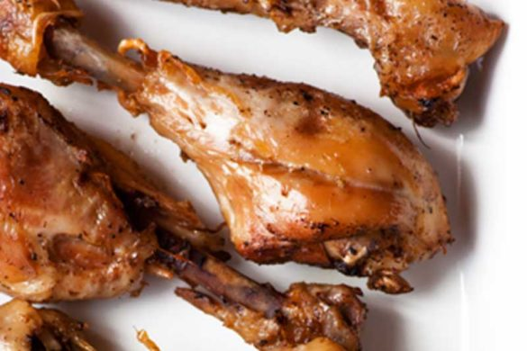 The secret to these tender drumsticks is the grill-to-slow-cooker technique.