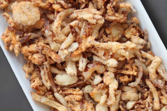 With Thanksgiving just days away, I was desperate for gluten free dairy free French fried onions to top my green bean casserole with. I mean, really, what's green bean casserole without French fried onions?