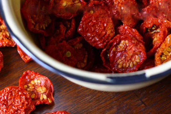 """What to do with cherry tomatoes,"" I found myself muttering last summer. So I got out the dehydrator and turned a bumper crop of sweet, red fruit into the tastiest dried tomato snackin' bites. Y"