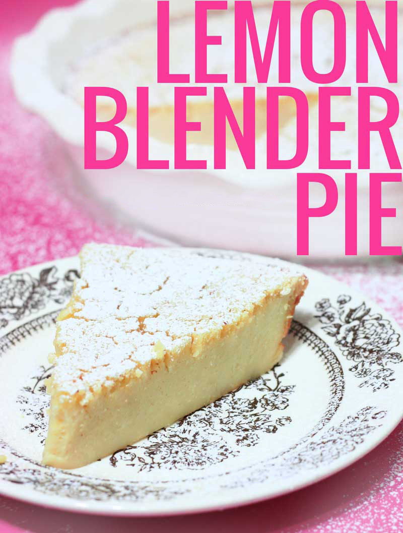 Inspired by your grandmother's Lemon Impossible Pie, this Lemon Blender PIe is gluten-free, dairy-free and much lower in sugar.