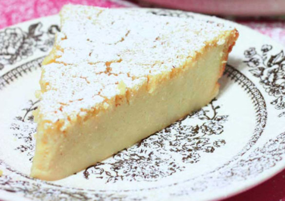 Remember the Lemon Impossible Pie your grandmother used to make? Here's a makeover of that classic that's a less sweet and more like a cheesecake.
