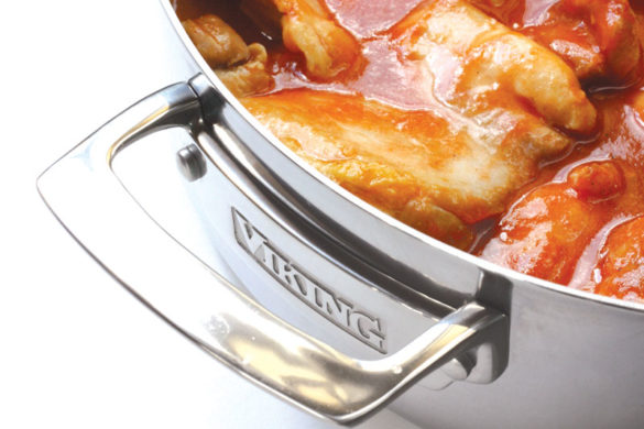 Viking casserole pan ... from stovetop to oven, no kitchen should be without one.