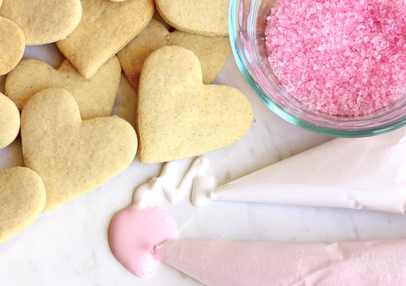 Pink Beet Icing and Sugar Sprinkles